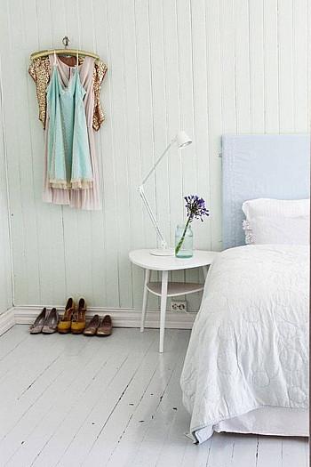 wooninspiratie vintage witte slaappkamer