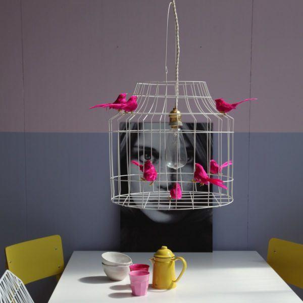 Hängande lampa med små fåglar kitchen