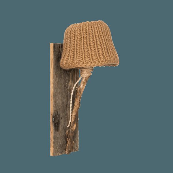 Trävägglampa kamel-färgad small