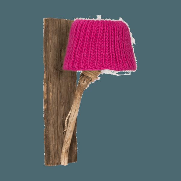Trävägglampa fuchsia
