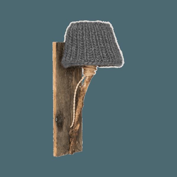 Trävägglampa antracitgrå small