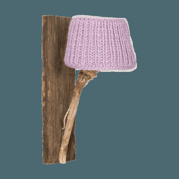 Trävägglampa lilla medium