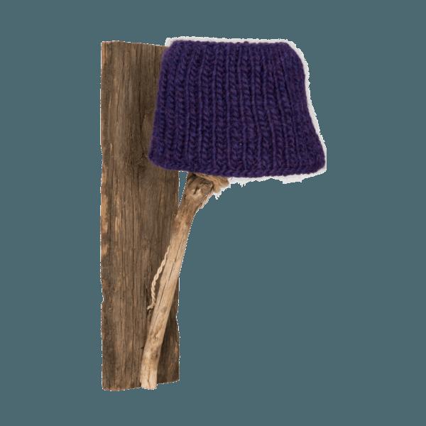 Trävägglampa violett