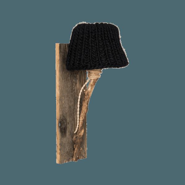 Trävägglampa svart small
