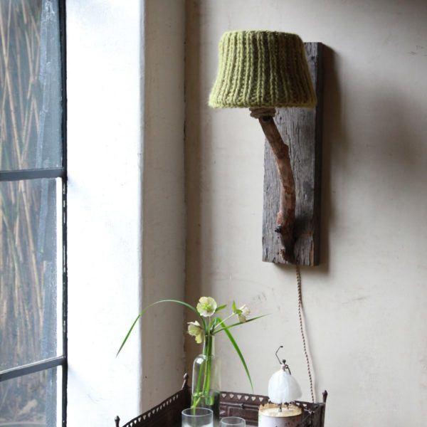 Trävägglampa rustik DutchDilight