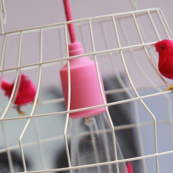 Hängande lampa med små fåglar kontor
