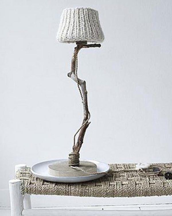 Bordslampa trä ek