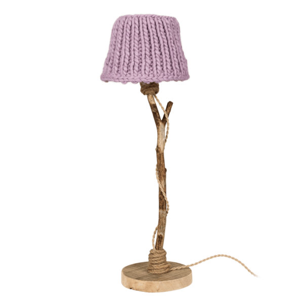 Bordslampa trä lilla Dutch Dilight
