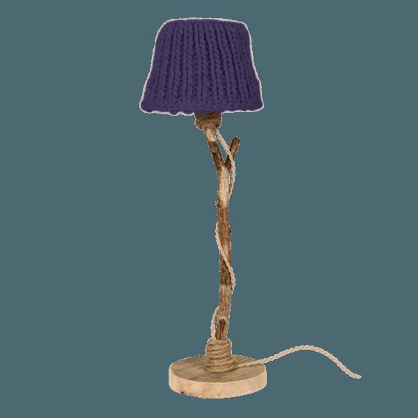 Bordslampa trä violett