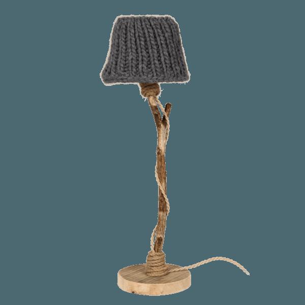 Bordslampa trä antracitgrå