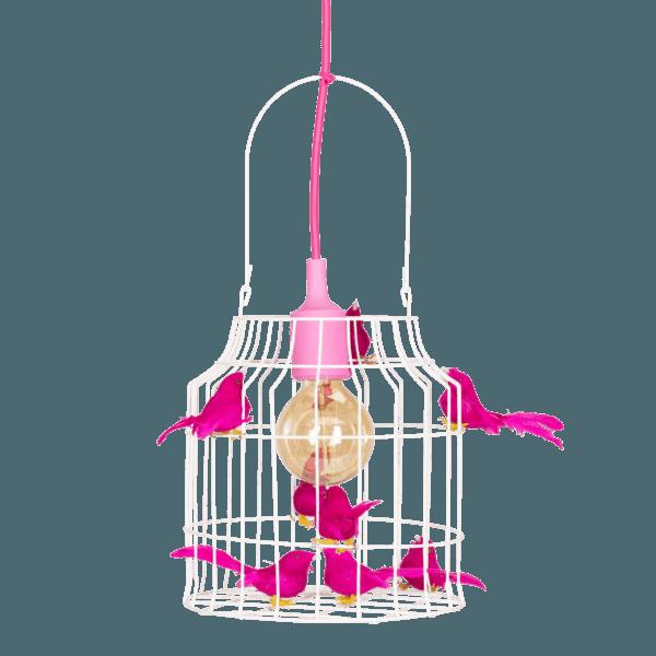 Fågelbur hängande lampa fuchsia Dutch Dilight