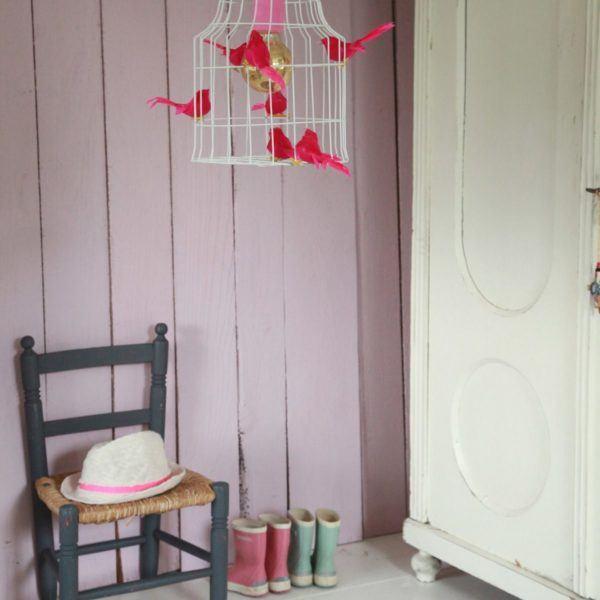 Fågelbur hängande lampa babyrum