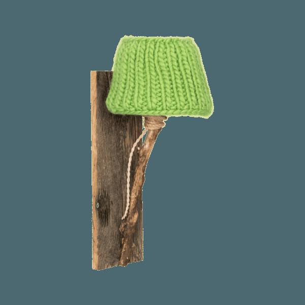 Trävägglampa äppelgrön
