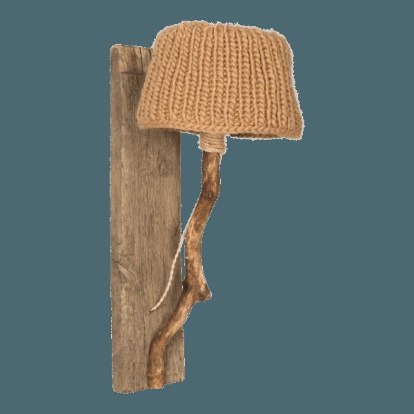 Trävägglampa kamel-färgad large