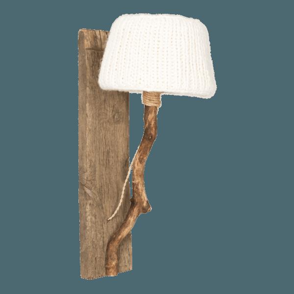 Trävägglampa benvit Dutch Dilight