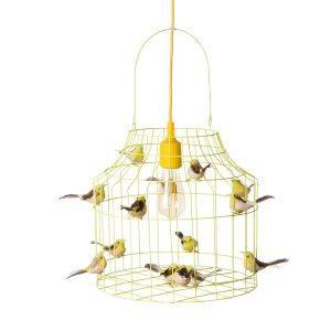 Hängande lampa fåglar svart Dutch Dilight